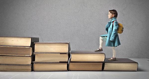 Girl Climbing Books